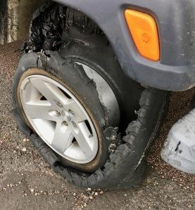 flat tire on Jeep