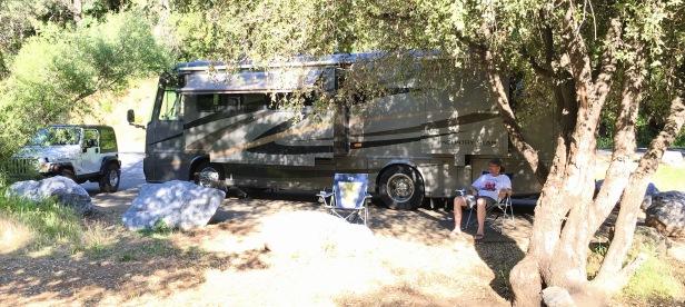 camping at bear lake near Auburn