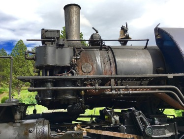 Old Steam Engine that pulled our train
