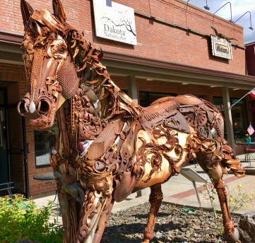 Metal Artwork in Hill City.