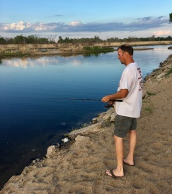 Tom fishing in Nebraska.