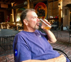 Tom drinking a toast to South Dakota