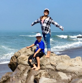 Alexis and Brody at moonstone beach
