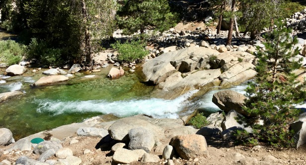 hiking Tokopah Falls Waterfall trail