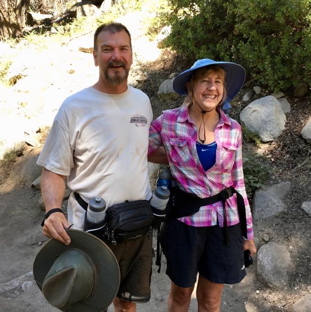hiking Tokopah Falls Waterfall trail