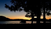 sunset at lake shastina campground