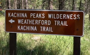 hiking around flagstaff - kachina peaks