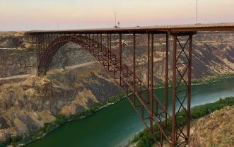 The Twin Falls Bridge across the Snake River.