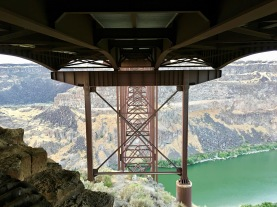 Under the bridge across Snake River Canyon