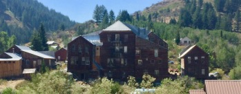The Idaho Hotel from the back.