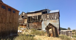 The deteriorating side of the Idaho Hotel