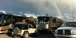 rainbow over RV