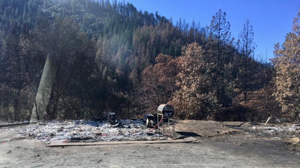 fire damage along highway 299