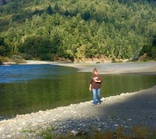 rouge river at campsite
