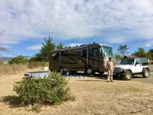 campsite in San Simeon