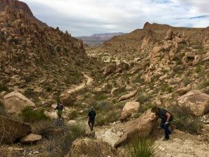 Hike to Balancing rock in big bend TX