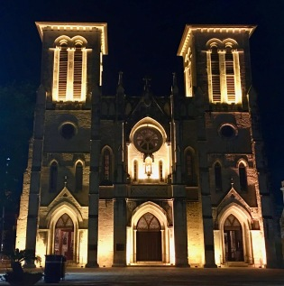 Cathedral at Nighttime.