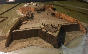 Here is a model of the fort that was on the river's edge.
