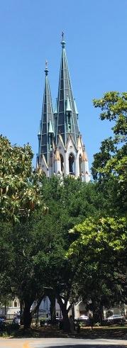 Church from afar.