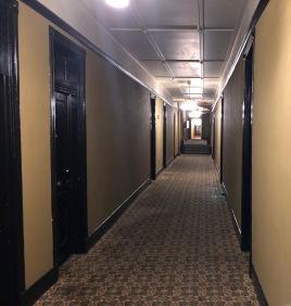 A haunted hallway.