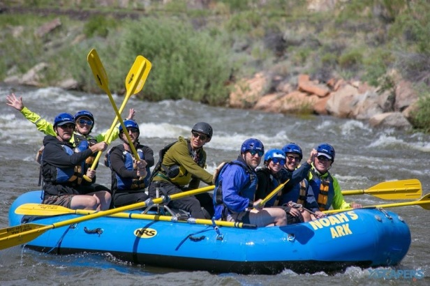 whitewater rafting in salida co